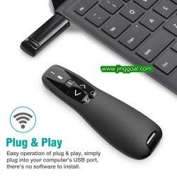 Power Point Presentation 2.4G USB Page-Turning Presentation Laser Pointer (مؤشر ليزر العرض التقديمي لـ 2.
