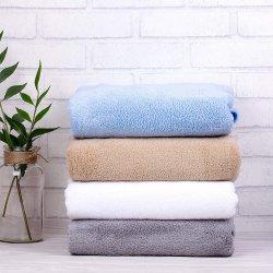 Рекламные домашний текстиль обычной белой жаккард Custom ткань из микроволокна коралловых бархат отель ванной полотенца
