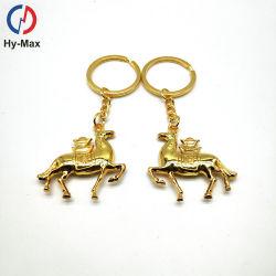 Уникальный 3D-проектирования пользовательских форма металлических Золотой лист Каваий Unicorn лошадь цепочки ключей для подарков