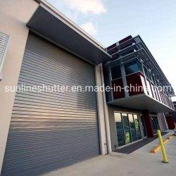 Gran Windproof industriales puertas automáticas de seguridad Rodillos Rodillos de rodadura del obturador hasta la puerta de la industria de la fábrica de almacén Amplio Garaje