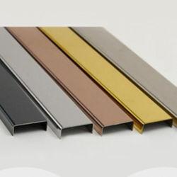 Цвет нержавеющая сталь U канал для создания/строительство оформление индивидуального дизайна