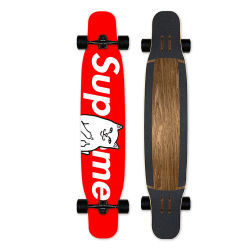 プロ完全なスケートボード9つの層のかえでののためのそして屋外の木製のスケートボードのデッキ極度なスポーツ