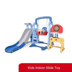 Terrain de jeu intérieure pour enfants Liyou jouet en plastique avec toboggan et Swing