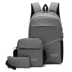 نساء رجال [أونيسإكس] كلية ترفيه يوميّة 3 في 1 مجموعة حقيبة ظهر للكمبيوتر المحمول USB