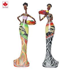 Смолы африканского чернокожих женщин статуэтки ремесла