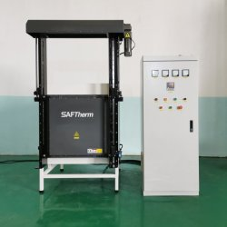 1200c/1400c/1700c 産業用垂直電動ドア工業用セラミック炉 / セラミックキルンムフルファーネス