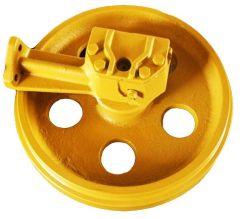 Calidad garantizada Precio adecuado rodillo de rueda guía delantera de cadena de excavadora Montaje