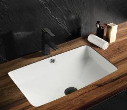 Les fabricants chinois Salle de bains forme rectangulaire des puits en vertu de compteur en céramique du bassin de lavage à main