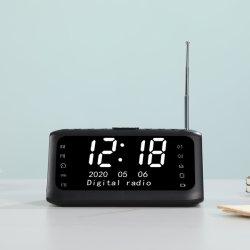 Bureau en tafel LCD-kalender wekker met radio