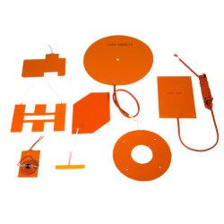 rilievo di riscaldamento flessibile del riscaldatore della gomma di silicone del Ce dell'UL della stampante di grado 3D di 200*300mm 12V 220V 200 con l'adesivo di 3m