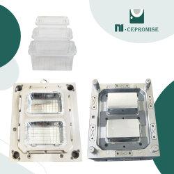 Boîte de rangement plus nette en plastique contenant des aliments de moulage par injection moule en plastique Maker