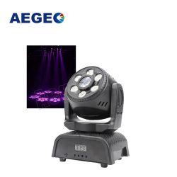 Mini-der LED-beweglicher Hauptpunkt-Wäsche-2in1 beweglicher Kopf Effekte DJ-der Licht-6X10W LED der Wäsche-RGBW LED des Punkt-30W LED