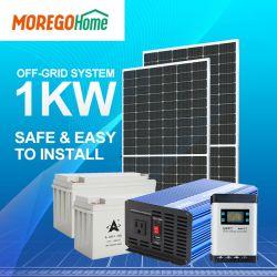 1000W / 200Ah / 220V AC energias Painel Solar Iluminação Inicial do Sistema de Alimentação