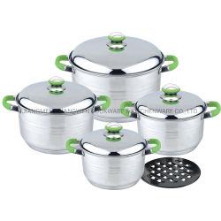 9pcs Marmite Casserole cuire le pot en acier inoxydable avec outil de cuisine