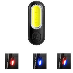 Indicatore luminoso posteriore della bici ricaricabile con luce rossa blu e
