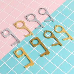 주문 도매 EDC 금관 악기 열쇠 고리 위생 손 항균성 문 오프너 인쇄 주문 로고