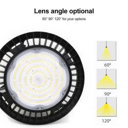 Luce a elevata luminosità UFO industriale impermeabile IP65 personalizzata in fabbrica 100 W 120 W. Luce ad alta baia a LED UFO da 150 W, 200 W, 250 W.