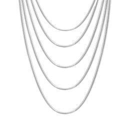 محترفة [ستينلسّ ستيل] مستديرة ثعبان سلسلة مجوهرات خلخال سوار عقد سوار لأنّ نمط تصميم