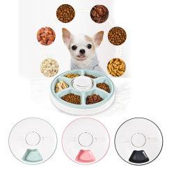 Temporizador de 24 horas artículos para mascotas 6 comidas 6 Cuadrículas perro Cat Electric dispensador de alimentos secos Dish Feed