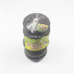 Sfera galvanizzata della spugna del ferro del raschiatore della maglia nel pulitore della cucina