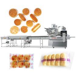 Biscotti automatici/tagliatelle istanti/Rolls/panini/catena di imballaggio di spostamento orizzontale dell'imballaggio di flusso del pane/hot dog/hamburger/del forno prodotti alimento dello stagno macchina