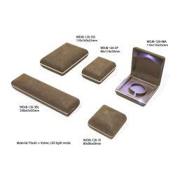 Finition du papier en plastique personnalisés haute brillance de l'emballage Coffret à Bijoux Cadeaux