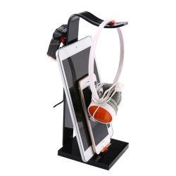 Оптовая торговля Custom плексигласа акриловый Стационарный многофункциональный держатель органайзера для установки в стойку подставки для гарнитуры, кабель USB, мобильного телефона, черного цвета