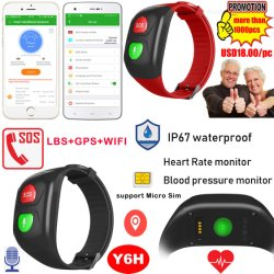 승진 IP67는 심박수 혈압을%s 가진 고위 팔찌 GPS 추적자를 방수 처리한다