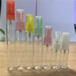 Livraison gratuite échantillons Atomizer Spray Bottle 5ml 10ml vide Mini Flacon de parfum en plastique avec pulvérisateur à pompe