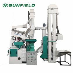 Stabilimento agricolo fornitura Paddy lavorazione riso macchina fresatura con riso Stabilimento di produzione di riso Husker Whitener da 800 kg