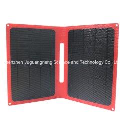 حقيبة شمسية محمولة بقدرة 14 واط مزودة بشاحن أحادي بالطاقة بقدرة 6 فولت