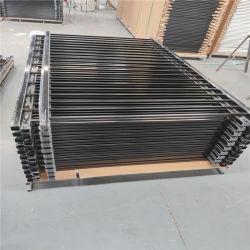Revestimento a pó cercas metálicas de aço Tubular Jardim de grades de alumínio da Barragem de Esgrima Painel cerca régua de alumínio