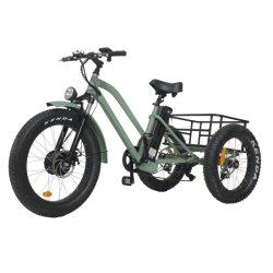 Driewieler Fat Tire Electric driewieler Cargo voor Beach Cruiser