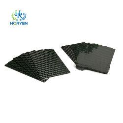 La fábrica de fibra de carbono personalizada Tarjeta de presentación de la tarjeta de carbono mate satinado