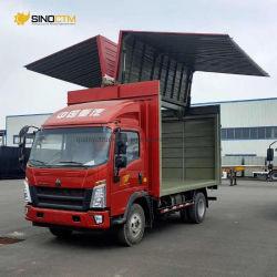 شاحنة جسم جناح Sinotruk 4*2 20طنًا متريًا شاحنة جناحية الخدمة الخفيفة، شاحنة مفتوحة جناح سعة 20 طنًا، شاحنة فان جناح سعة 20 طنًا