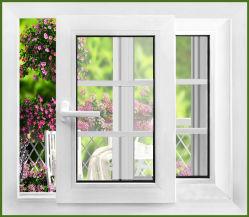 Profil des portes coulissantes en verre et plastique PVC Fenêtre PVC