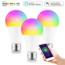 Commande à distance de la vie intelligente coloré Ampoule LED WiFi Smart