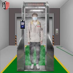 비접촉식 지하철 역 차체 적외선 자동 온도계 소독 터널