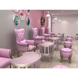 Pé de moda esmalte rosa Salão Freedom de Prensa Pedicura Presidente