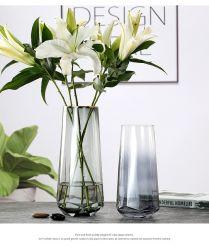 Европейский Пномпене стекло вазы украшены работами Gold T - Формы предоставления кусочки гостиной прозрачных декоративная ваза цветов