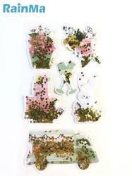 تصميم الزهور بالجملة ديكور مصنعي المعدات الأصلية الإسفنجية أسيتات الإسفنج الفقاعية من خلات فينيل الإيثيلين (EVA ملصقات 3D Cartoon ملصقات