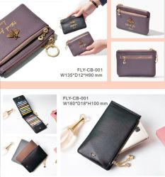 Кожаное портмоне кошелек короткая версия студентов памяти различных форматов на молнию молнией медали Wallet ключ автомобиля PU кошелек