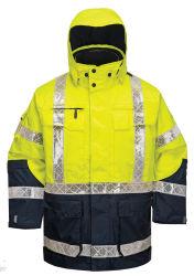 Camisa de poliéster de Inverno reflexivo construção de alta visibilidade Vestuário Vestuário de segurança refletora