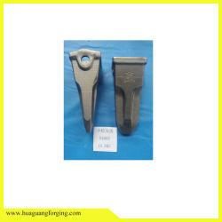 Pezzi meccanici della costruzione che forgiano i denti della benna dell'escavatore di caso/tipi del dente