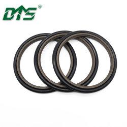 Hbts Gsj Bsj 40% Bronze PTFE 유압 실린더 왕복 운동 로드 버퍼 샤프트 오일 플라스틱 고무 기계식 스텝 씰