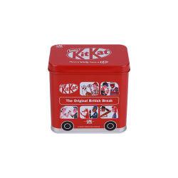 Hotsale 버스는 식사 금속 상자 관례에 의하여 인쇄된 초콜렛 주석 상자를 형성했다