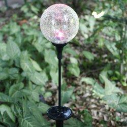 La luz solar LED Garden juego con el Crack bola de cristal de la luz de la decoración de jardín