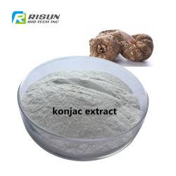100%自然なRivierの巨大なアラムの塊茎のKonjacルートエキスのKonjac Glucomannanの粉