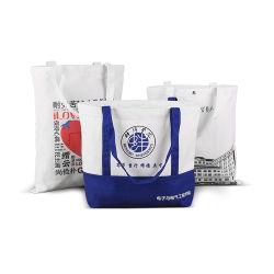 100% algodão orgânico tira de tecido do galpão de almoço Sacola de Compras Algodão saco de praia