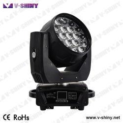 12W X 19PC Zoom LED Wash moviendo la cabeza de la luz de la etapa